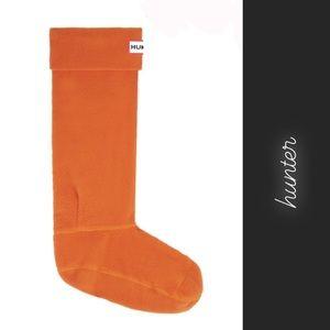 Hunter Orange Kids Welly Boot Socks NIB • L